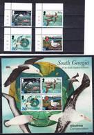 2019-0027 South Georgia 2017 Albatross Protection Complete Set Including MS MNH ** - Géorgie Du Sud