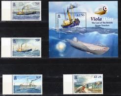 2019-0032 South Georgia 2015 Viola Dias Steam Trawler Complete Set Including MS MNH ** - Géorgie Du Sud