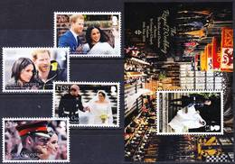 2019-0036 South Georgia 2018 Royal Wedding Complete Set Including MS MNH ** - Géorgie Du Sud