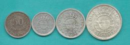 Portuguese 1951 Issues - 50 Centavos (KM10); 2½ (KM12) 5 (KM13) & 10 Escudos (KM14) - Sao Tome Et Principe