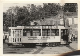 Woluwé Saint Lambert ,foto , Photo , Dépôt De Tram électrique , Tramway ; Publicité Macaroni SOUBRY ; + Doram(12,5 X8,8 - Woluwe-St-Lambert - St-Lambrechts-Woluwe