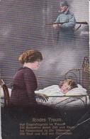 AK Kindes Traum - österr. Soldat Mit Gewehr - Frau M Schlafendem Kind- K.u.k. Armee - Patriotika - Feldpost 1917 (38555) - Weltkrieg 1914-18