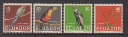 1958 Ecuador Birds Oiseaux  Complete Set Of 4 Mint Hinged - Ecuador