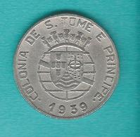 Portuguese - 1 Escudo - 1939 (KM4) - Sao Tome Et Principe
