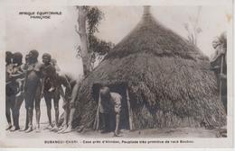 CPA Oubangui-Chari - Case Près D'Alindao, Peuplade Très Primitive De Race Boubou (belle Scène) - Centrafricaine (République)