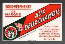 Buvard VB Aux Deux Chamois Sous-vêtements De Marque - Textile & Clothing