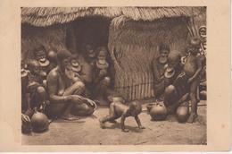 CPA Oubangui - Case De Femmes à Plateaux (belle Animation) - Centrafricaine (République)