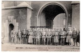Brüssel, Deutsche Soldaten In Die Infanterie Caserne, Bruxelles Petit Chateau, Alte Ansichtskarte 1915 - Monumentos, Edificios