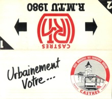 CALENDRIER CASTRES  REGIE MUNICIPALE DES TRANSPORTS URBAINS R.M.T.U. 1980 - Calendriers