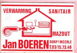Sticker - Verwarming - Sanitair - Mazout - Jan BOEREN Dorp 1 Meerle - Autocollants