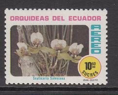1980 Ecuador Orchids Fleurs  10 Sucres Value MNH - Ecuador