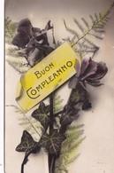 BUON COMPLEANNO. RAMO BOUQUET FLORES FLEURES. BZ. CIRCULEE 1920 COZENZA A MONTEVIDEO - BLEUP - Verjaardag