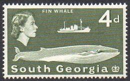 SOUTH GEORGIA 1963  4d Fin Whale MH - Géorgie Du Sud