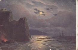 AK Kalmykoff - Mondnacht - Feldpost K.u.k. Bos. Herz. Infanterie-Regiment Nr. 2 - 1917 (38560) - Malerei & Gemälde