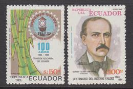 1985 Ecuador Sugar Cane Agriculture    Complete Set Of 2  MNH - Ecuador