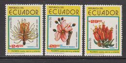 1986 Ecuador Flowers Fleurs  Complete Set Of 3  MNH - Equateur