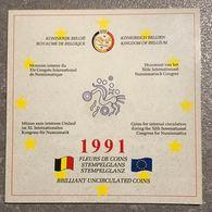 """M/EC Belgique : Set 1, 2, 5 Et 10 ECU 1991 """"XIe Congrès International De Numismatique"""" *FDC* - 12. Ecus"""