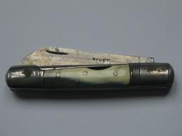Ancien Couteau à Identifier - MARQUE RIVET   **** EN ACHAT IMMEDIAT **** - Armes Blanches