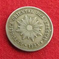 Uruguay 1 Centesimo 1924 KM# 19 Uruguai - Uruguay