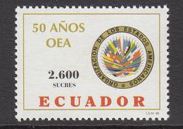 1998 Ecuador OAS Flags Complete Set Of 1  MNH - Ecuador