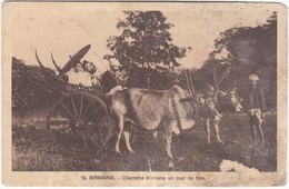 1289 BIRMANIE - CHARETTE BIRMANE UN JOUR DE FETE - Myanmar (Burma)