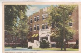 GENERAL HOSPITAL. CHATHAM, ONTARIO, CANADA. 30. PE CO. CIRCULEE 1953 - BLEUP - Ontario