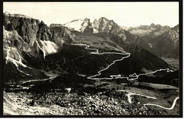 Strada Delle Dolomiti Dal Passo Sella  -  Ansichtskarte Ca.1956   (9469) - Bolzano (Bozen)