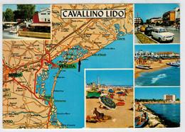 CAVALLINO  LIDO  (VE)  DALLA  CARTA  AUTOMOBILISTICA  DEL T.C.I.         (VIAGGIATA) - Altre Città
