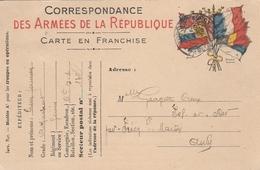 Correspondance Des Armées De La République - Cachet TRESOR Et POSTES - Au Dos Cachet Perlé PRECY ST MARTIN (Aube) - Military Service Stampless