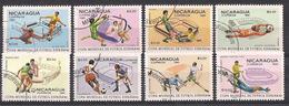 NICARAGUA   1981   ESPANA 82   YVERT  1145-1152   USATA   XF - Nicaragua