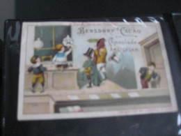 4 Chromo Litho PUB C1880 à 1890 BENSDORP's Chocolate Chokolade  Set Kompleet 4 Prenten Schoolmeester Klas - Andere