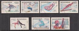 NICARAGUA   1982   GIOCHI OLIMPICI D'INVERNO   YVERT  1282-1285+P.A. 1030-1032   USATA   XF - Nicaragua