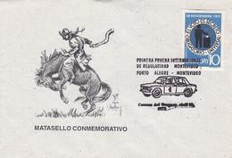 MATASELLO CONMEMORATIVO.1RA PRUEBA INTERNACIONAL REGULARIDAD MONTEVIDEO. SPC 1975 RARE ENVELOPPE. URUGUAY - BLEUP - Cars