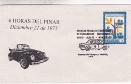 6 HS DEL PINAR. 1RA PRUEBA INTERNACIONAL REGULARIDAD MONTEVIDEO. SPC 1975 RARE ENVELOPPE. URUGUAY - BLEUP - Cars