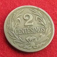 Uruguay 2 Centesimos 1924 KM# 20 *V2  Uruguai - Uruguay