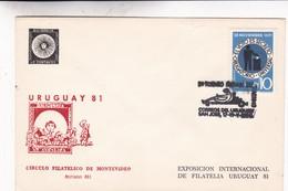 2DO TORNEO AUTOMOVILISMO CORREOS URUGUAYM SAN JOSE. CIRCULO FILATELICO  1981. SPC RARE ENVELOPPE. URUGUAY - BLEUP - Cars
