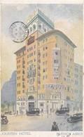 JOUSTEN HOTEL. BUENOS AIRES. CIRCULEE 1928 A MONTEVIDEO, URUGUAY. RARE POSTCARD - BLEUP - Hotel's & Restaurants