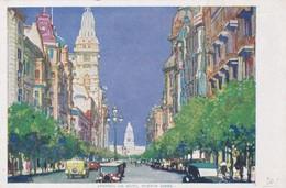 AVENIDA DE MAYO,BUENOS AIRES (BY NIGHT). ROYAL MAIL CIRCA 1910s. RARE POSTCARD - BLEUP - Argentinië