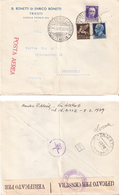 Italy 1942 Letter Cancelled Trieste 4.4.42 In Front And Back - Censur, Cover - 1900-44 Vittorio Emanuele III