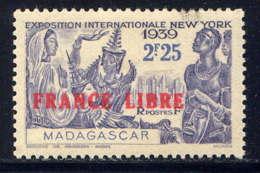 MADAGASCAR - 238* - EXPOSITION INTERNATIONALE DE NEW-YORK / FRANCE LIBRE - Madagascar (1889-1960)