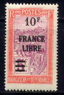 MADAGASCAR - 253* - TRANSPORT EN FILANZANE / FRANCE LIBRE - Madagascar (1889-1960)