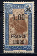 MADAGASCAR - 259* - JEUNE FILLE HOVA / FRANCE LIBRE - Madagascar (1889-1960)