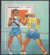 NICARAGUA   1983  BF.  GIOCHI  OLIMPICI LOS ANGELES   YVERT  BF.157   USATO   XF - Nicaragua