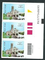 Italia 2015 ; Scuola Di Barbiana; Terzina Con Codice A Barre Inferiore + Codice Alfanumerico. - 6. 1946-.. Repubblica