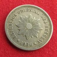 Uruguay 5 Centesimos 1936 KM# 21  Uruguai - Uruguay