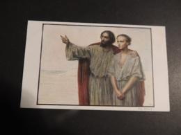 CPA  BELLE CARTE DE JESUS MONTRANT LE CHEMIN - Jesus