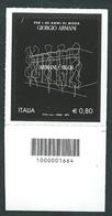 Italia 2015; Giorgio Armani: Francobollo Con Codice A Barre A Destra. - 1946-.. République