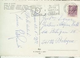 """""""MANIFESTAZIONE 70° ANNIVERSARIO FIAP-CONI-LOTTA- PESISTICA-JUDO"""" ROMA ANNULLO TARGHETTA,1972,PIAZZA S. PIETRO-ROMA - Pesistica"""