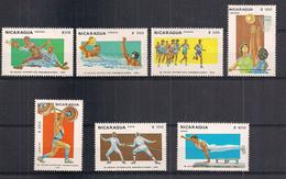 NICARAGUA   1983   GIOCHI SPORTIVI PARAMERICANI   YVERT  1271-1275+POSTA AEREA 1027-1028   MNH  XF - Nicaragua