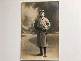 AK Photo Franzosische Soldat Miltaire Francais Uniform Regiment 144 Bordeaux Poilu Foto Bill's Bajonet Lebel - Guerra 1914-18
